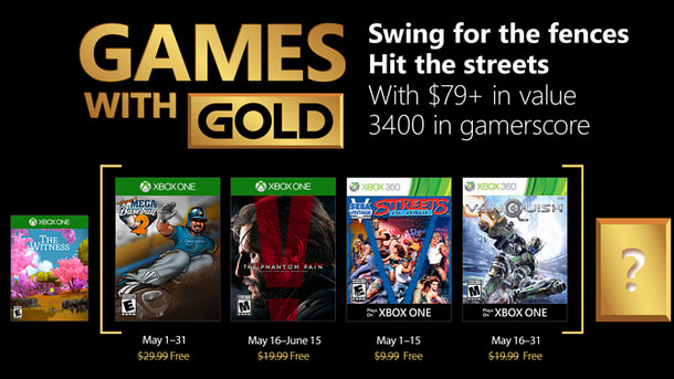 Xbox LIVE: Xbox - May 2018 Games with Gold